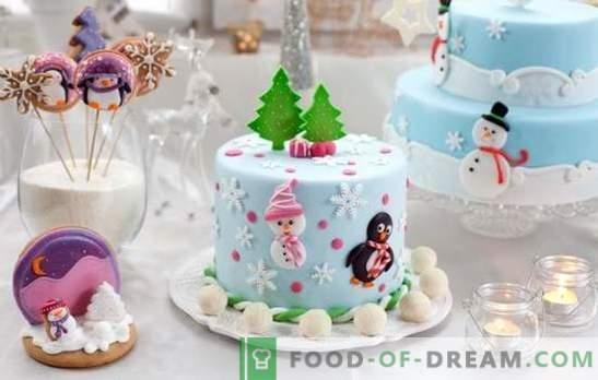 Je kunt niet zonder huisgemaakte taart voor het nieuwe jaar! Een selectie van zeldzame en populaire zelfgemaakt gebak voor het nieuwe jaar: smakelijk en eenvoudig