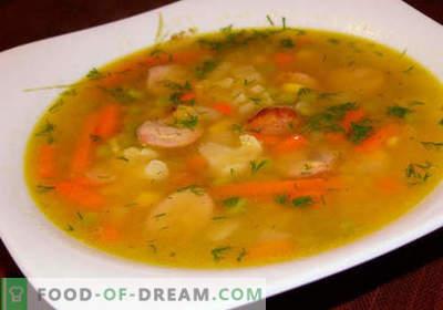Stoofpotten - bewezen recepten. Hoe goed en lekker soep van de stoofpot koken.