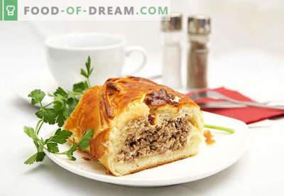 Kulebyaka met vlees - de beste recepten. Hoe goed en smakelijk koken taart met vlees.