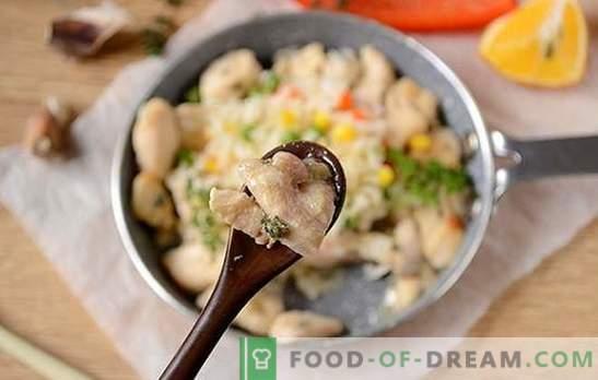 Kipfilet met tijm: laat je verrassen door de nieuwe smaak van het gebruikelijke product! Auteur's foto-recept van kipfilet met tijm, knoflook en citroen in een pan