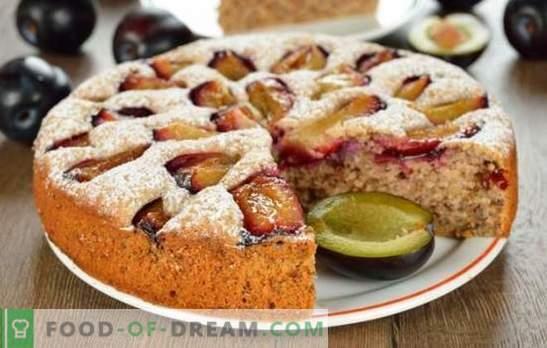 Taart met pruimen - één zal niet genoeg zijn! Een selectie van verschillende taarten met pruimen van gist, zandkoek, bladerdeeg en vloeibaar deeg