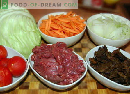 Repolho com carne - as melhores receitas. Como corretamente e saboroso cozinhar repolho com carne.