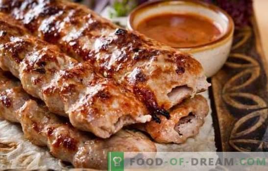 Lamskebab - een geweldig alternatief voor kebab! Lamskebab recepten van lam op de grill, in een pan en in de oven