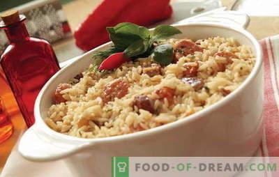 Wat rijst koken met vlees in de oven? Ideeën voor culinaire inspiratie: recepten voor rijstgerechten met vlees in de oven