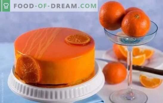 Koken met plezier: chocolade-oranje cake. Recepten eenvoudige en complexe oranje cakes met chocolade en zonder