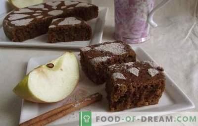 Lenten fruitcake van groenten en fruit met maanzaad, sinaasappels, gekonfijt fruit. Recept van de auteur voor een magere muffin zonder eieren, melk en boter