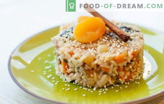 Pilaf met rozijnen is een gezond gerecht met een heerlijk aroma! Een selectie van verschillende pilafrecepten met rozijnen: gewoon en zoet