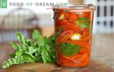 Tomaten met azijn voor de winter: 8 van de best bewezen recepten. Hoe maak je een oogst van tomaten met azijn voor de winter