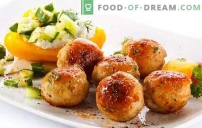 Varkensgehaktballetjes - een winstgevende maaltijd! Recepten van verschillende gehaktballen met varkensvlees en groenten, champignons, rijst, boekweit, kaas