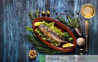 Welke specerijen zijn nodig voor vissen en welke specerijen zijn er niet mee gecombineerd?