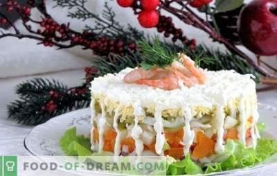 Een selectie van salades met inktvis en worteltjes - de keuze is enorm! Recepten salade met inktvis en worteltjes van de beschikbare producten