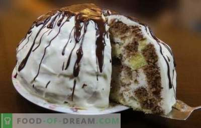 Sancho Pancho-cake - een delicaat biscuitgebak in het oorspronkelijke ontwerp. Kom langs met een sappige cake