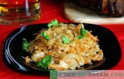 Bigus met vlees - eenvoudig, smakelijk en altijd bevredigend. Klassieke Bigus-recepten met vers en zuurkoolvlees