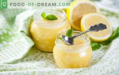 Citroencrème: complexe en eenvoudige recepten. De regels voor het bereiden van lekkere en delicate citroencrème volgens de recepten van de beste banketbakkers