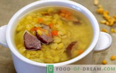 Erwtensoep met rundvlees - eenvoudig en rijk. De beste recepten voor erwtensoep met rundvlees: eenvoudig en complex