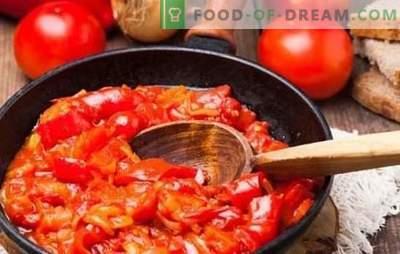 Hongaarse snack - een rel van smaak, de magie van kleur! Recepten heldere Hongaarse hapjes van peper, tomaten, eieren, kwark, courgette