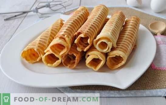 Krokante wafels in een wafelijzer worden één of twee keer bereid! Recepten voor knapperige wafels in een wafelijzer op boter, melk, met zetmeel