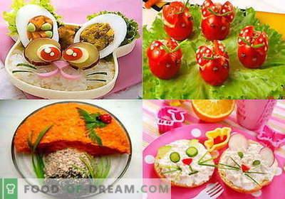 Kindersalades - de beste recepten. Hoe goed en smakelijk een kindersla klaar te maken.