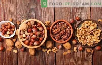 Beginselen van het gebruik van noten in koken en suikerwerk