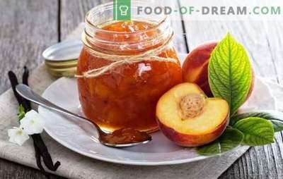 Nectarine behoudt - de aromatische smaak van de zomer. Recepten voor het maken van jam nectarine: traditioneel, met koffie, vanille, kaneel