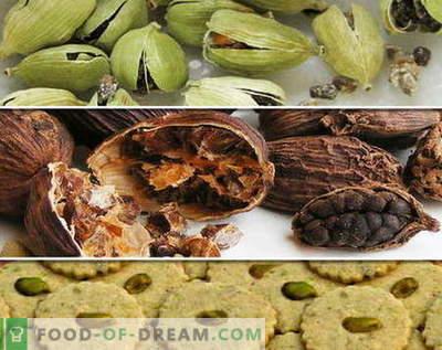Kardemom - beschrijving, eigenschappen, gebruik bij het koken. Recepten met kardemom.