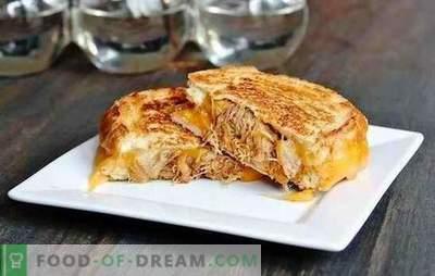 Gerechten van vlees gebakken met kaas - elke gastvrouw kan het aan! Vlees gebakken met kaas in de oven met paddenstoelen en fruit
