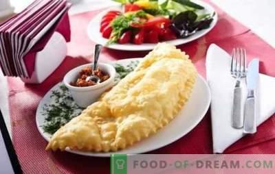 Chebureks de Crimée à la maison - tartes légendaires! Recettes pour Chebureks de Crimée juteux avec viande, fromage, légumes, champignons