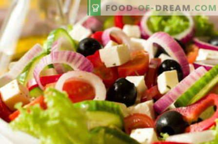 Salades met kaas - de beste recepten. Hoe goed en smakelijk een salade met kaas te bereiden.