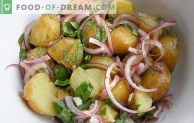 Koken van aardappelen met uien in de oven - in het Oekraïens, Italiaans, royaal en boer. Recepten aardappelen met uien in de oven