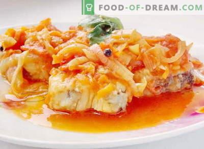 Vis onder de marinade - de beste recepten. Hoe goed en lekker vis koken onder de marinade.