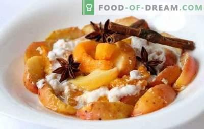 Pieczona dynia z jabłkami - lubię to! Pieczone przepisy dyniowe z jabłkami i pomarańczami, suszonymi owocami, ryżem i bezą
