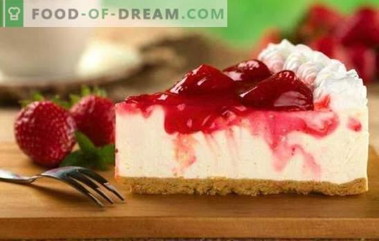 Cheesecake met aardbeien - de belichaming van tederheid. Recepten voor cottage cheese cakes met aardbeien: biscuit, jelly, biscuit