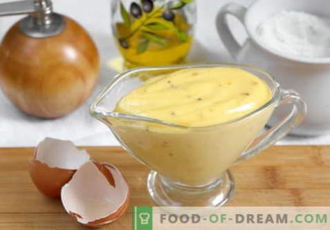 Zelfgemaakte mayonaise - de beste recepten. Hoe goed en smakelijk zelfgemaakte mayonaise bereiden.