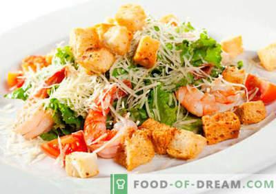 Seafood salāti - pierādītas receptes. Kā pareizi un garšīgi pagatavoti jūras veltes salāti.