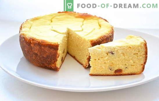 Kwark braadpan in een slowcooker - variaties van zoet en plantaardig. Recepten geurige en weelderige kwark braadpan in een slowcooker