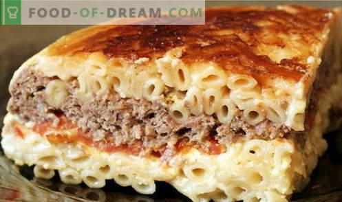 Pasta Casserole - de beste recepten. Hoe goed en smakelijk koken pasta ovenschotel.