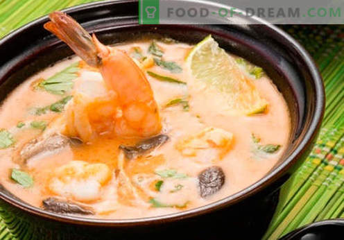 Soup Tom Yam - bewezen recepten. Hoe soep Tom Yam koken.