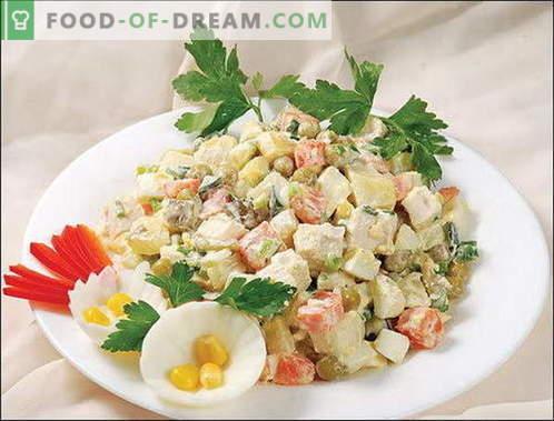 Wintersalade - de beste recepten. Hoe goed en smakelijk koken Winter salade.