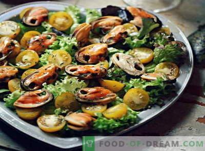 Mosselsalade - de beste recepten. Hoe goed en smakelijk koken mossel salade.