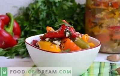 Paprika's met knoflook - de juiste combinatie! Recepten voor garnituren en plakjes voor de winter van peper en knoflook