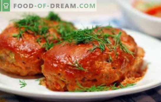 Koolrolletjes zijn lui met kool - kook in de oven, pan, multi-cooker. Opties lui koolrolletjes met kool, bonen, champignons