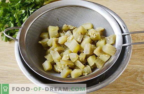Aubergine voor de winter zoals champignons - de originele snack