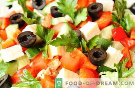 Salades zonder mayonaise zijn de beste recepten. Hoe goede en smakelijke salades te koken zonder mayonaise.
