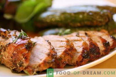 Пржен свинско месо во тавата - најдобрите рецепти. Како правилно и вкусно готви печено свинско месо.