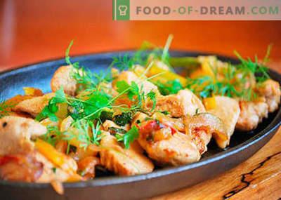 Kipfilet - de beste recepten. Hoe goed en smakelijk kipfilet koken.
