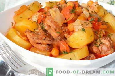 Gebraden kip - de beste recepten. Hoe goed en smakelijk gebraden kip te koken.