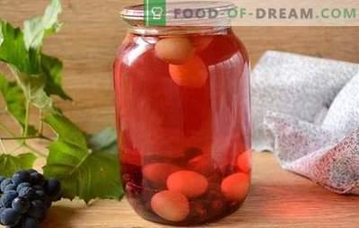 Kompotas iš vynuogių: kaip tinkamai virti? Paprastas vynuogių kompotas