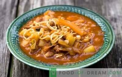 Lagman met radijs: een nieuw gerecht op je menu. Recepten Lagman met radijs, aardappelen, tomaten, paprika's, lam, kip