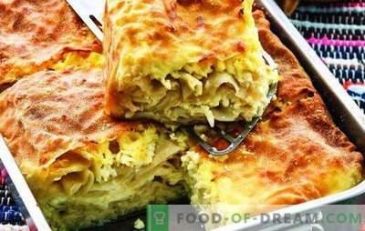 Achma van pita met kaas - ja, ja, ja! Gemakkelijker geen taart! Recepten en bouw lui pita van pita met kaas
