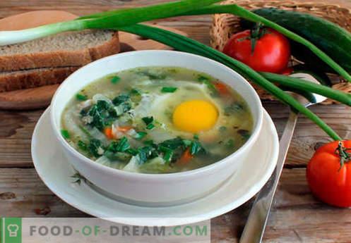 Brandnetelsoep - Bewezen recepten. Hoe goed en lekker gekookte soep van brandnetel.